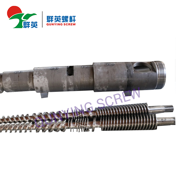 Barril de tornillo gemelo cónico de alta calidad para el extrusor plástico