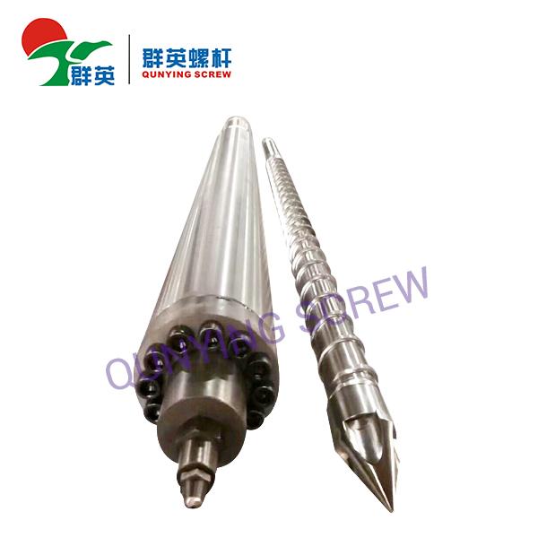 Tornillo de inyección plástico de las piezas de automóvil del barril de tornillo de la máquina del moldeo a presión de PVC PP PE from Zhoushan Qunying