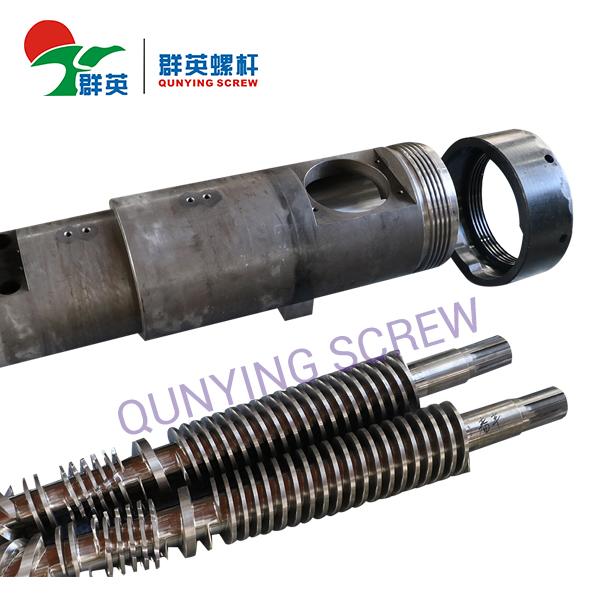 ABS.PP.PVC.PE Materia prima Doble cónico gemelo del barril de tornillo
