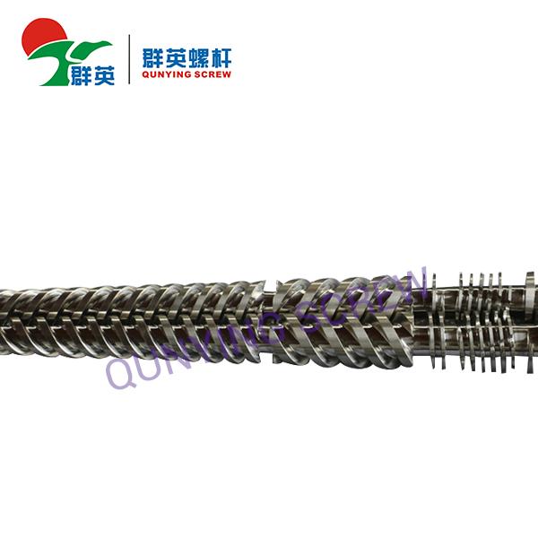 Barril y tornillo gemelos cónicos de la máquina del extrusor de los tornillos para el plástico del PVC